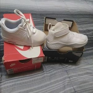 NIB TODDLER'S SZ 7C WHITE NIKE AIR MAX AND JORDAN